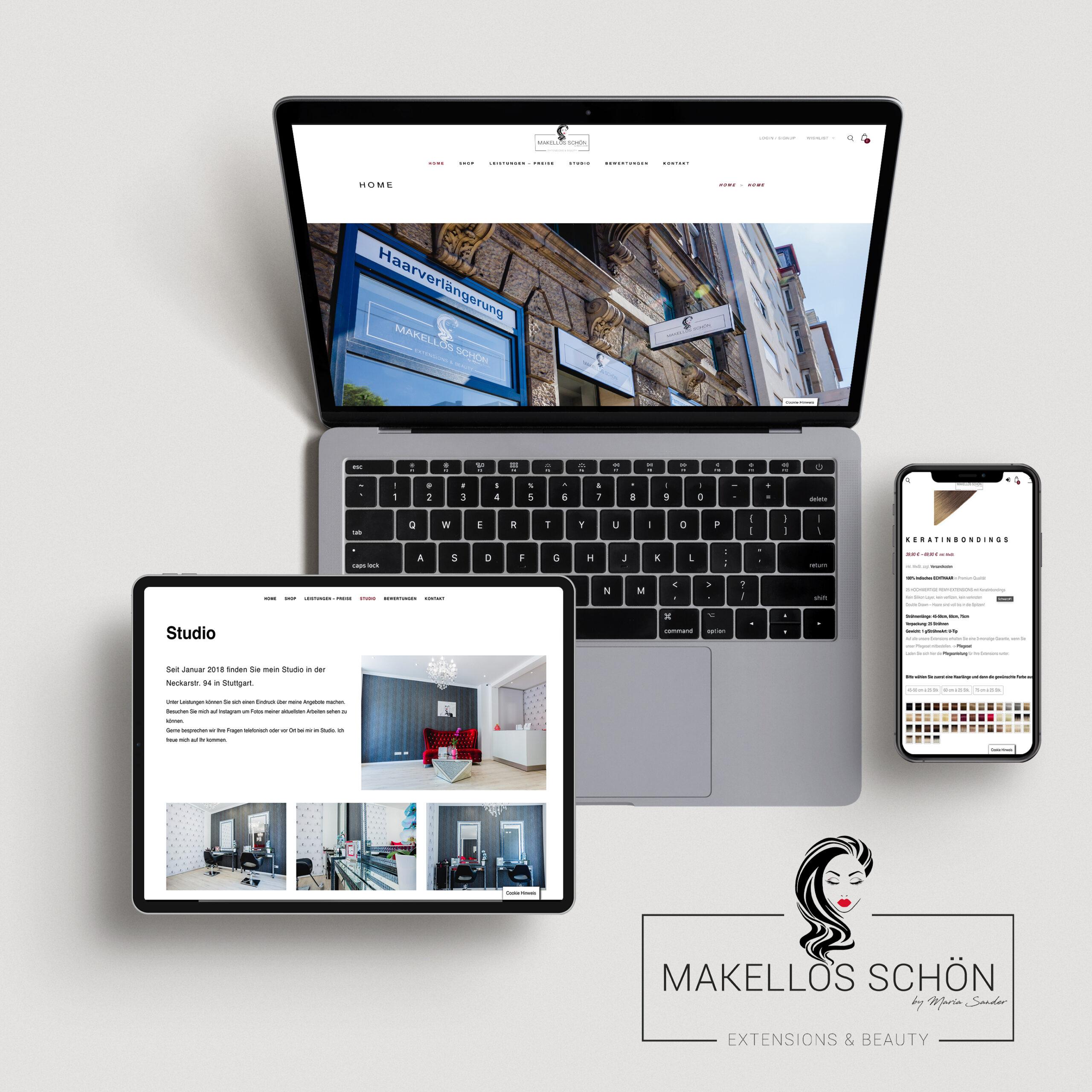 logodesign & website + onlineshop